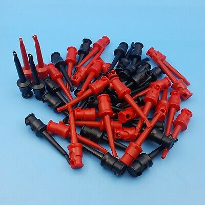 50pcs Nylon Insulated 55mm Test Hook Clip Multimeter Test Accessories Probe
