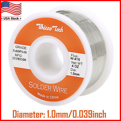 60-40 Tin Lead Rosin Core Solder Wire For Electrical Solderding .0391.0mm 100g