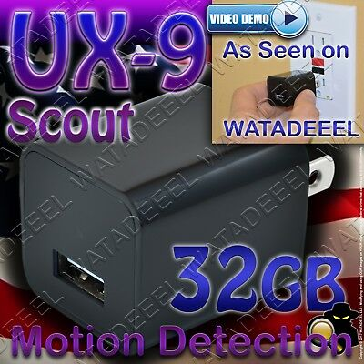 NEW 2019 UX-9 Scout USB Spy Camera with Motion Activation