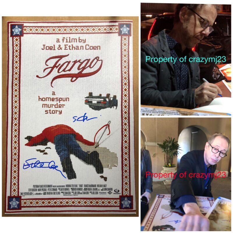 Steve Buscemi Ethan Coen Signed Fargo Poster 12x18 Autograph auto Exact Proof