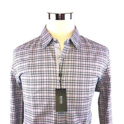 7c4cb7a44 Hugo Boss Lukas Plaid Long Sleeve Button Front Sport Shirt Mens XL NWT $155