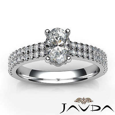 Oval Diamond Engagement Double Prong Set Ring GIA Certified F Color VVS2 1.21Ct 3