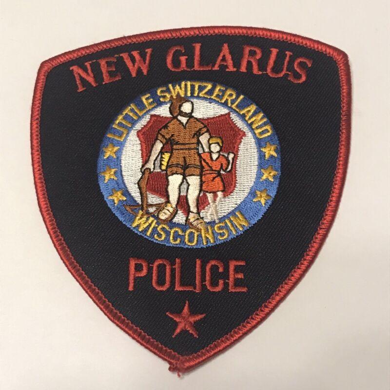 Rare New Glarus Wisconsin Police Dept Shoulder Patch - Little Switzerland