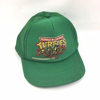 Vintage 1989 Teenage Mutant Ninja Turtles TMNT Mesh Youth Snapback Hat Cap #4035
