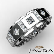 Mens 18K White Gold Diamond Ring