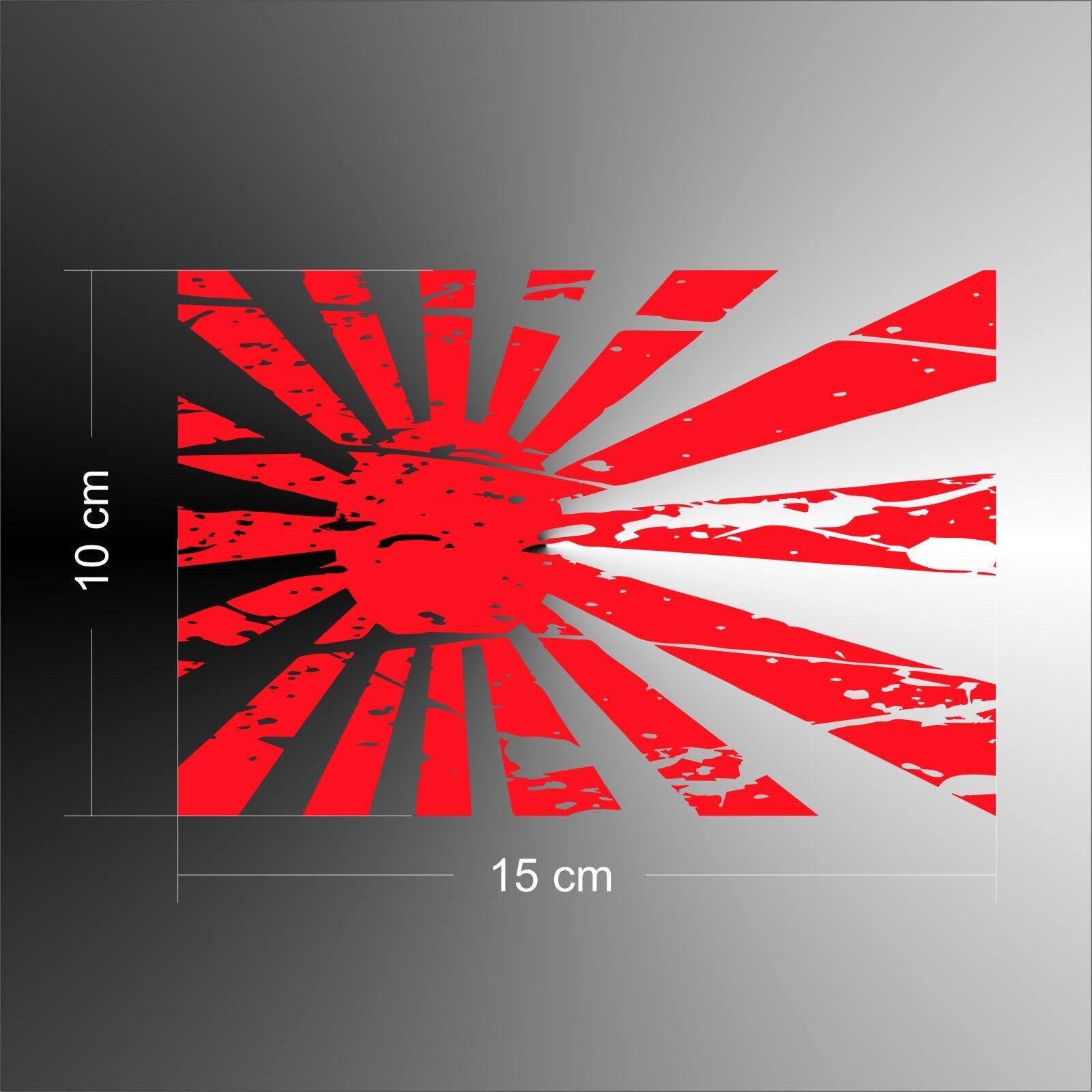 JDM AUFKLEBER JAPAN Flagge flag Rising Sun Grunge Nippon drift 10 x ...