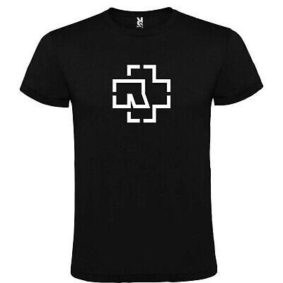 Baumwolle Schwarzen Kurzen Ärmel T-shirt (T-Shirt Schwarz Rammstein Logo Mann S M L XL XXL 100% Baumwolle Ärmel Kurze)