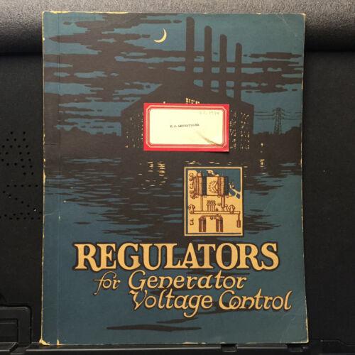 Vtg Westinghouse Electric Catalog ~Regulators for Generator Voltage Control 1947