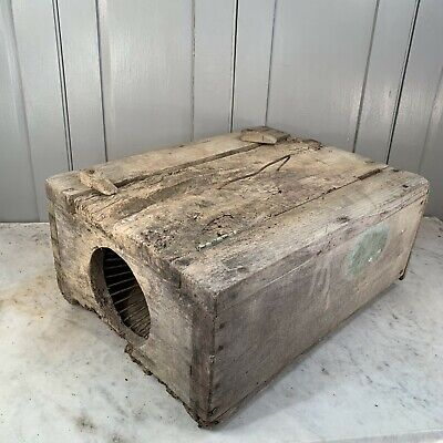 Antique French large wooden rodent trap