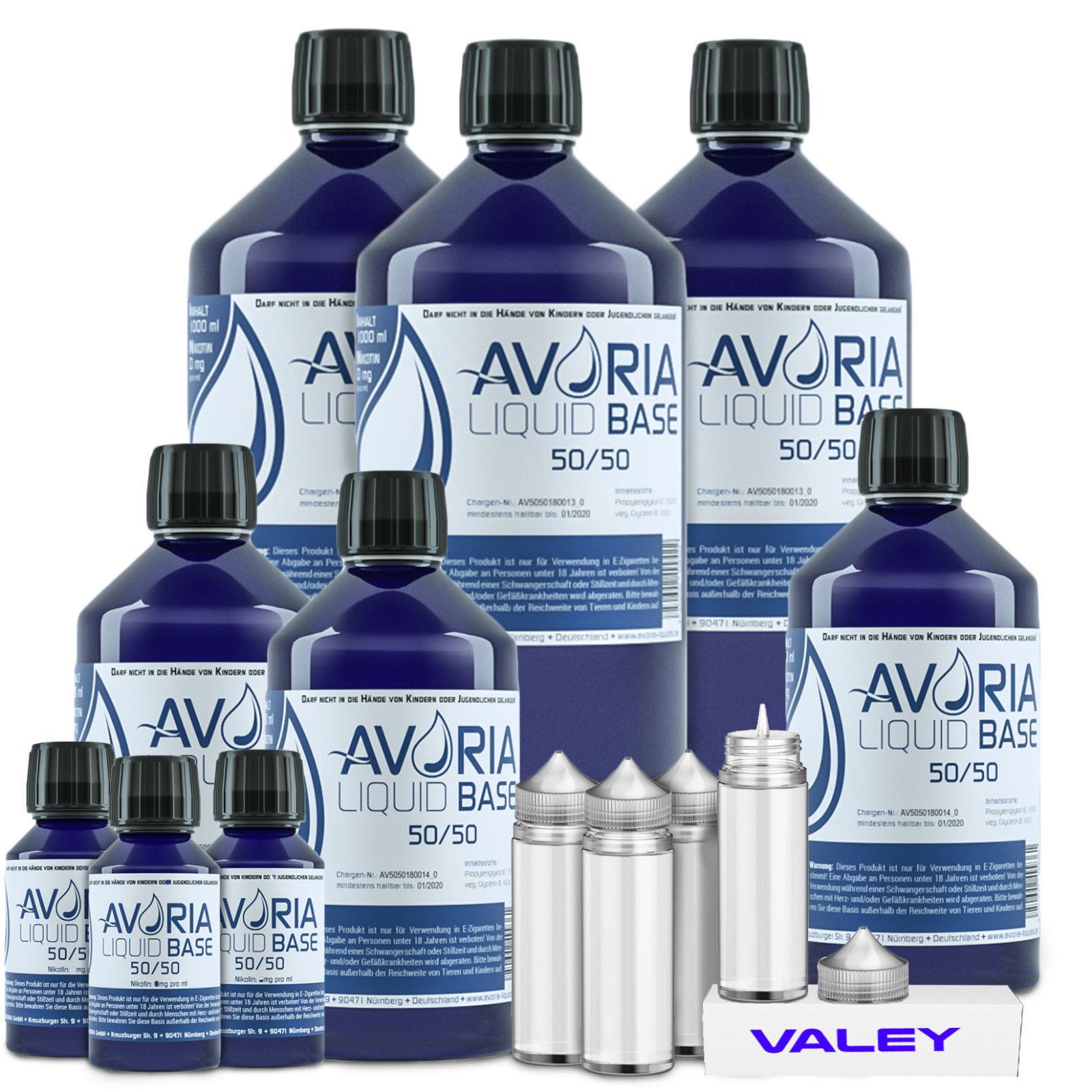 AVORIA Base  VG PG VPG Basen Liquid Aroma Nikotin100 ml - 1000 ml E-Zigarette