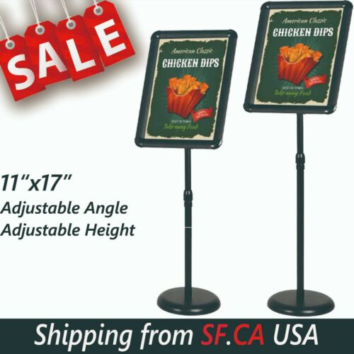 "11""x17"",Outdoor Adjustable Sign Stand Advertising Support Board Poster Holder"