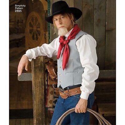 S2895 Nähen Muster Simplicity 2895 Herren Kostüm Westworld - Herren Kostüm Nähen Muster