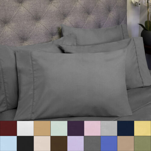 1500 Count Deep Pocket Microfiber 7 Piece Sheet Set Split King Asst Colors Bedding