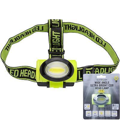 Electralight COB LED Head Torch Headlamp Light 200 Lumens With AAA Batteries