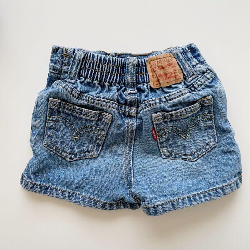 Vintage Little Levi's Denim Shorts Girls Sz 12 Months