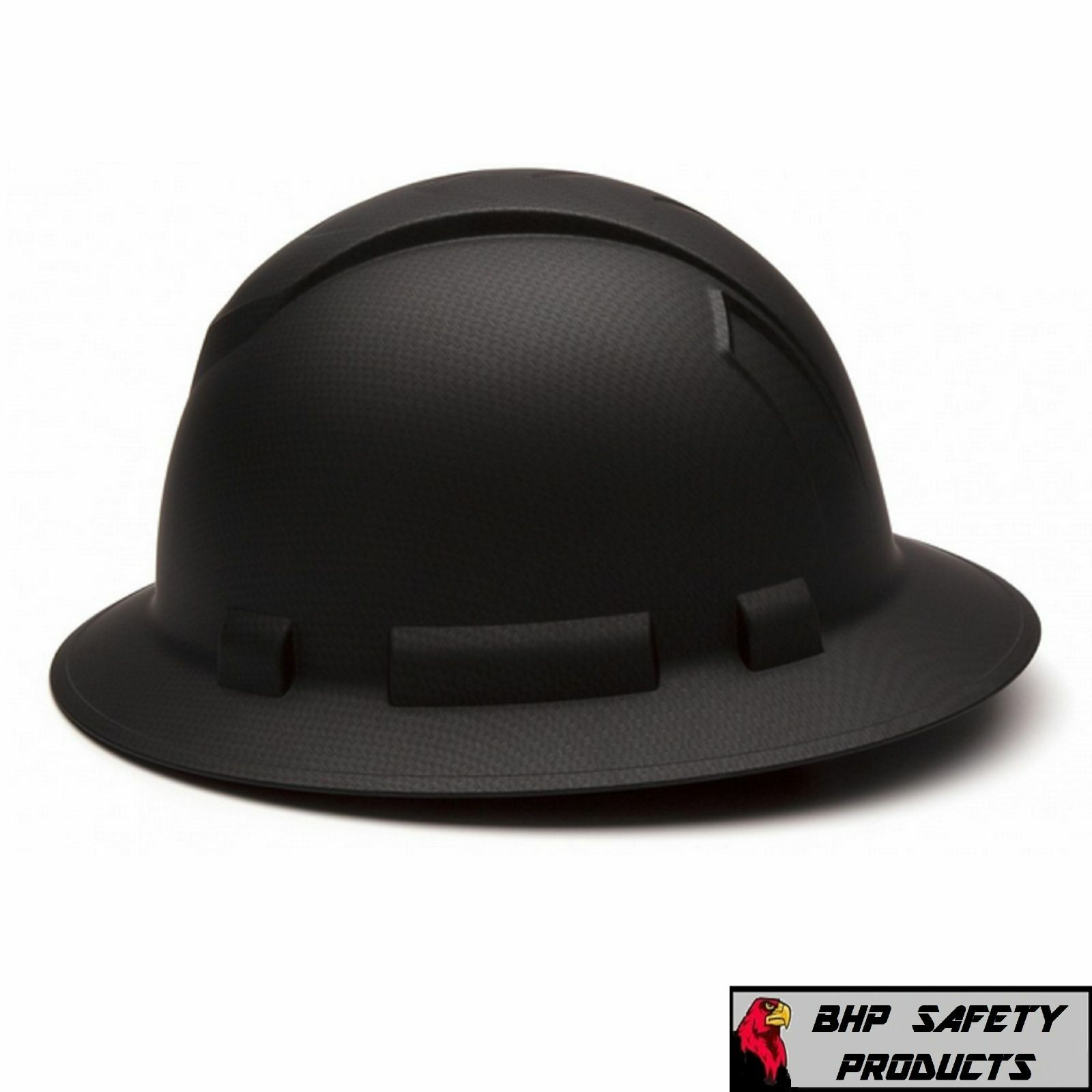 PYRAMEX RIDGELINE HARD HAT GRAPHITE PATTERN BLACK GRAY FULL BRIM SAFETY HP54117