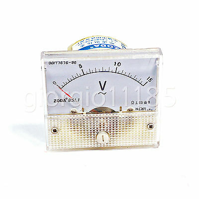 Us Stock Analog Voltmeter Panel Pointer Volt Voltage Meter Gauge 85l1 Ac 0-15v