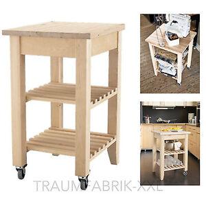 IKEA Holz Birke Abräumwagen Servierwagen Regalwaagen ...