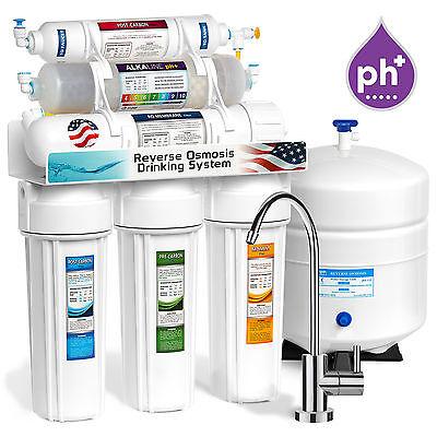 Undersink Reverse Osmosis - 10-Stage Undersink Reverse Osmosis + Alkaline Mineral Water Filter System 50 GPD