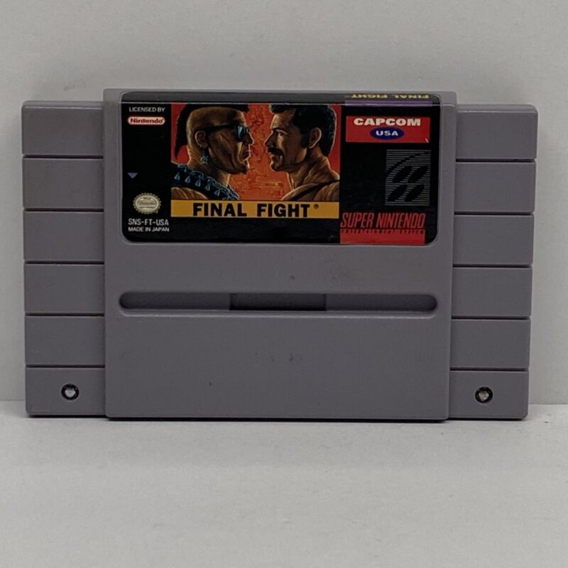 Final Fight SNES Super Nintendo Game Tested Working & Authentic!