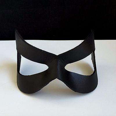 BLACK Prom Mask Leather Wedding Masquerade Mask Superhero Mask Halloween Robin  ()