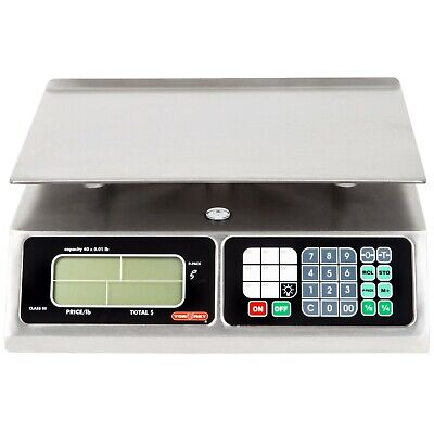Commercial Restaurant Shop 40 Lb. Lcd Screen Digital Price Computing Scale