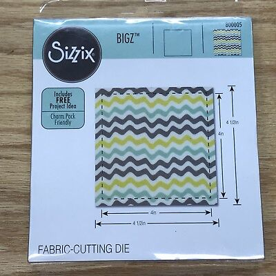 Sizzix Bigz Square Fabric-Cutting Die (4.5 Unfunished) 4 In. Finished