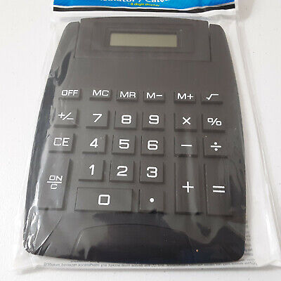 Jot Large Black Desk Calculator Digital Display Big Numbers Buttons Easy To Read