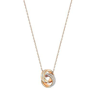 FURTHER CRYSTAL SMALL PENDANT NECKLACE ROSE GOLD 2016 SWAROVSKI JEWELRY #5240525