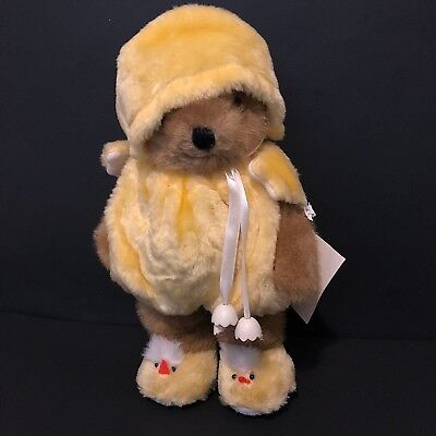 Collectible Bear With Stand in Yellow Chick Costume Chubby's Cubby Bears  - Cubby Costume