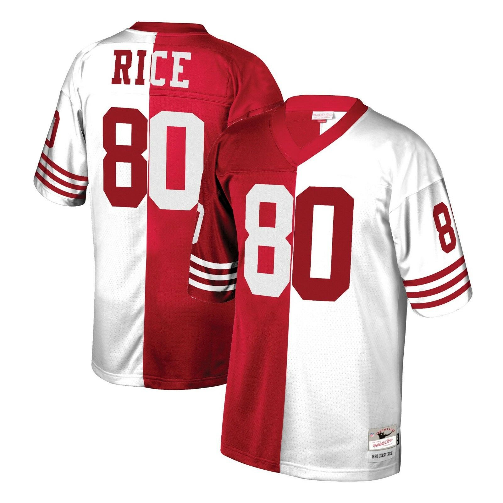 huge discount 502a8 80a31 Details about Mitchell & Ness Split Home & Away Legacy Jersey San Francisco  49ers Jerry Rice