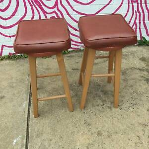 vintage/retro stoolsX2,small stools,kitchen stools WE CAN DELIVER
