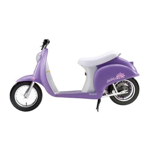 Razor Electric Betty Scooter Pocket Mod 250w Mini Kids Moped Purple 15 Mph