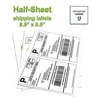 2 labels per sheet, 8-1/2