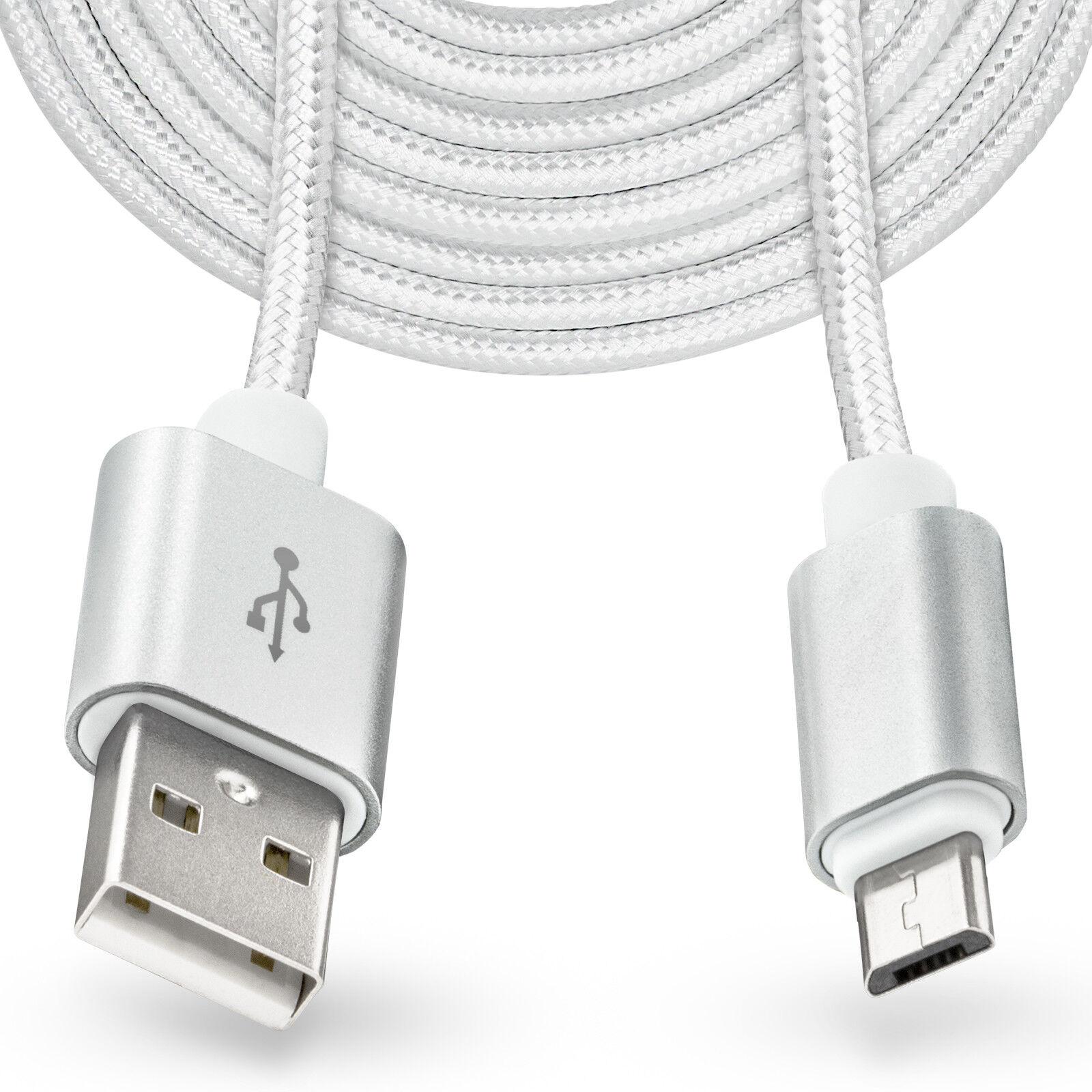 Details zu 3m langes Micro USB Kabel Stecker Ladekabel für Samsung Galaxy S7 S6 Edge Plus
