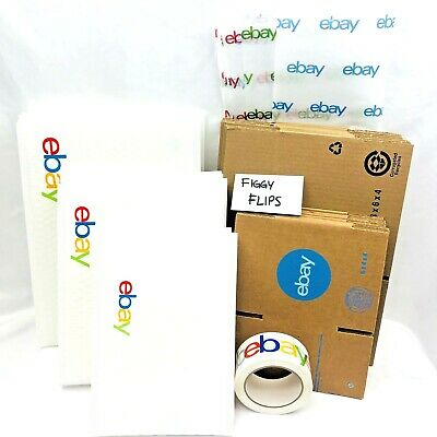 Ebay Shipping Supplies Kit Lot Boxes Padded Bubble Mailer Envelopes Tape Tissue