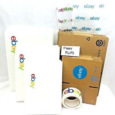 Ebay Shipping Supplies Kit Lot Boxes Padded Bubble Mailer Envelopes Tape Tissue