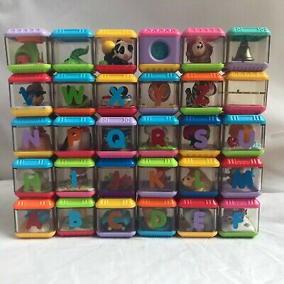 FISHER PRICE ABC 123 ALPHABET PEEK A  BLOCKS Lot of 30 Clean All different
