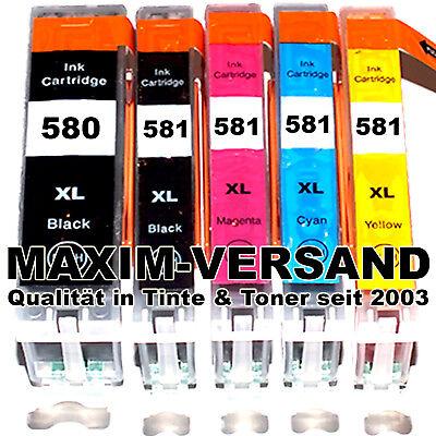 9100 Serie (5 Patronen für Canon 580 581 Pixma TR 7500 TR 8500 TS 6100 TS 8100 TS 9100 Serie)