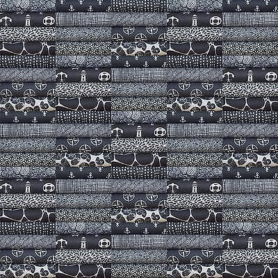 "100 Scraps 10x10cm ""grau"" Stoffpaket Patchwork Stoffreste Baumwolle"