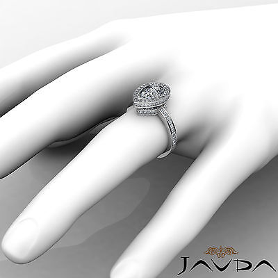 Circa Halo Pave Pear Shape Diamond Engagement Ring GIA Certified G SI1 2.05 Ct 3