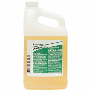 Dimension 2EW Herbicide 1/2 Gal Pre & Post Emergent  For Grasses Broadleaf Weeds