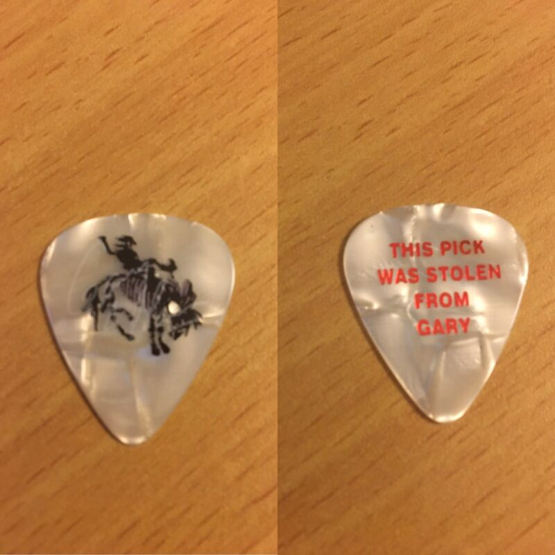 Authentic Gary Allan Tour Stage Guitar Pick.