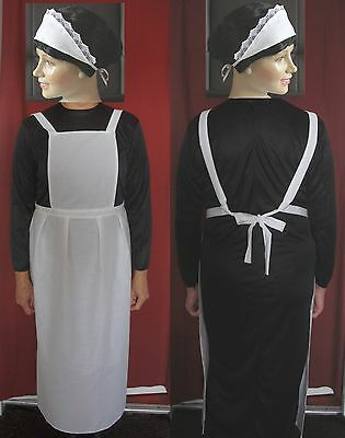 Downton Abbey Maid Costume (ADULTS VICTORIAN MAID 10-18 for downton abbey APRON HEADBAND post free)