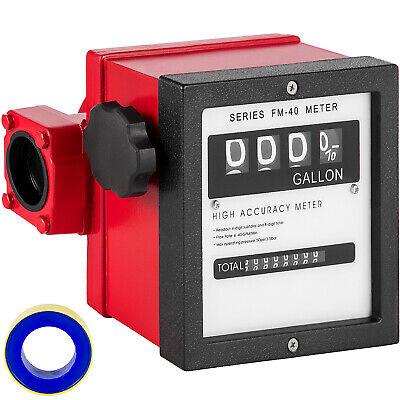 Vevor 1.5 Mechanical Fuel Meter 40 Gpm 4-digital Fuel Transfer Meter