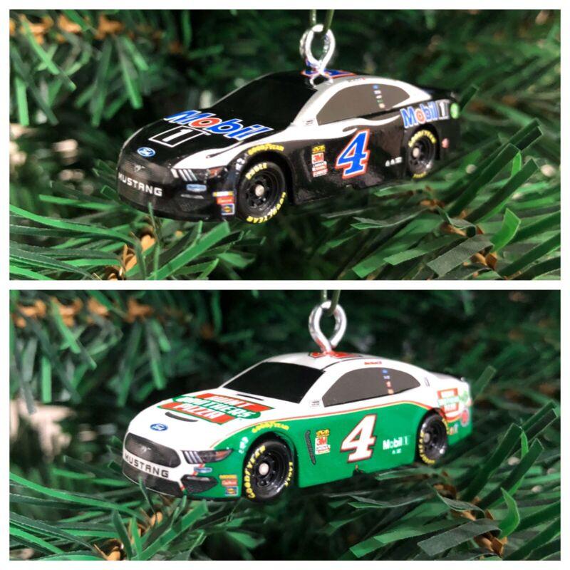 Nascar Kevin Harvick 1/87 Scale Racecar Christmas Ornamant!! Set Of 2!!