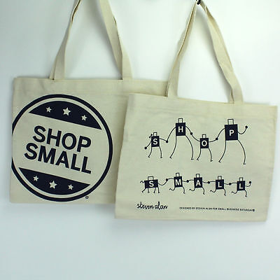 Small Reusable Bags (Lot of 3 -  Amex Shop Small Business Saturday Reusable Canvas Tote)