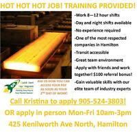 HIRING GENERAL LABOURERS FOR A LARGE STEEL MILL!