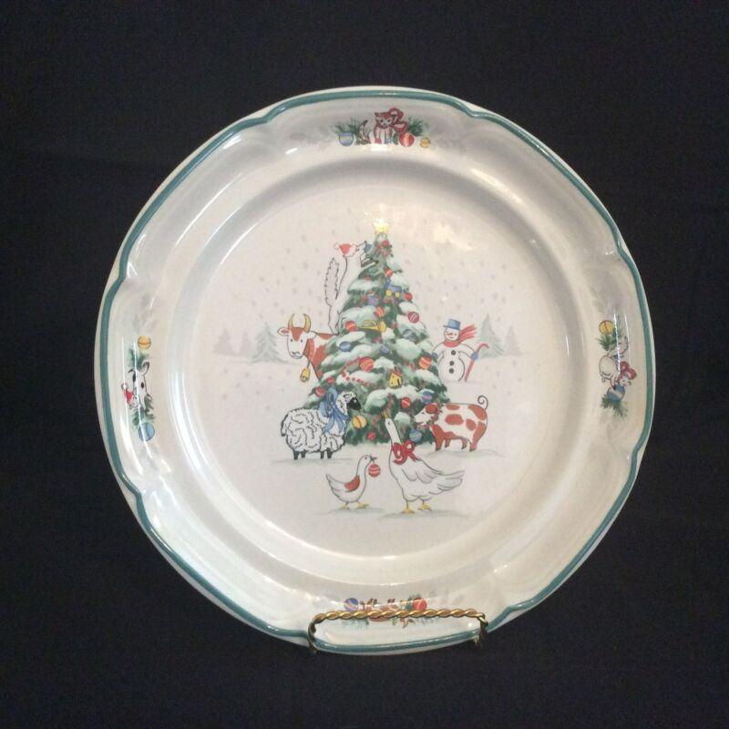 Rare International Tableworks Country Christmas #8966 Dinner Plate