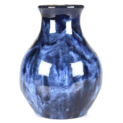 "Vintage Pinewood Pottery Edith Harwell Blue Onyx 5 1/2"" Vase c1930-40s"